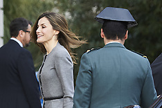 Queen Letizia attends a meeting at AECID 7 Mar 2017