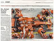 Finnish Formula One driver Kimi Raikkonen of Ferrari makes a pit stop during the Formula One Grand Prix of Malaysia at the Sepang circuit near Kuala Lumpur, Malaysia, 23 March 2008. Raikkonen won the Malaysian Grand Prix.  EPA/KERIM OKTEN