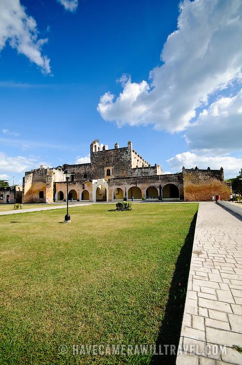 The Cathedral of San Bernadino in Valladolid, Yucatan, Mexico.