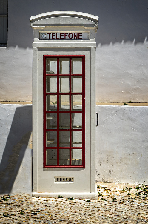 A Telefone Booth in the town of Cacela Velha, Portugal.