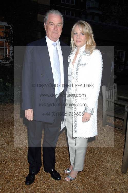 LORD & LADY BELL at the annual Cartier Chelsea Flower Show dinner held at the Chelsea Physic Garden, London on 21st May 2007.<br />
