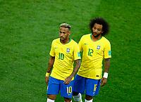 Neymar (Brazil) and Marcelo (Brazil)<br /> Moscow 27-06-2018 Football FIFA World Cup Russia  2018 <br /> Serbia - Brazil / Serbia - Brasile<br /> Foto Matteo Ciambelli/Insidefoto