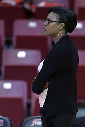 01 November 2017: Niki Washington during a Exhibition College Women's Basketball game between Illinois State University Redbirds the Red Devils of Eureka College at Redbird Arena in Normal Illinois.