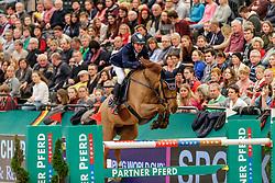 DREHER Hans-Dieter (GER), Prinz<br /> Leipzig - Partner Pferd 2020<br /> Longines FEI Jumping World Cup™ presented by Sparkasse<br /> Sparkassen Cup - Großer Preis von Leipzig FEI Jumping World Cup™ Wertungsprüfung <br /> Springprüfung mit Stechen, international<br /> Höhe: 1.55 m<br /> 19. Januar 2020<br /> © www.sportfotos-lafrentz.de/Stefan Lafrentz