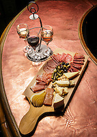 A wine sampling and cheese plate at the Westlake Village Inn in Westlake Village, CA. Feb. 10, 2016.<br /> Westlake Village Inn has entered a strategic partnership with Hong Kong-based Cachet Hotel Group, joining an international network of hotels and resorts. The hotel will change its name to Westlake Village Inn ñ a Cachet Hotel. With the agreement, the innís Stonehaus Winery will distribute its wine at select Catchet properties in Asia and Mexico.   Photo by David Sprague