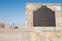 Historic marker at Stovepipe Well, Death Valley National Park, California