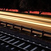 Light Rail Tracks and Folsom, Auburn Road, Folsom, CA