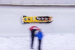 20.01.2019, Olympia Eiskanal, Innsbruck, AUT, BMW IBSF Weltcup Bob, Igls, Herren Viersitzer, 2. Lauf, im Bild Pilot Nico Walther mit Paul Krenz, Christian Jagusch, Eric Franke (GER) // Pilot Nico Walther with Paul Krenz Christian Jagusch Eric Franke of Germany in action during the 2nd run of men's four-man Bobsleigh of the BMW IBSF Bob World Cup at the Olympia Eiskanal in Innsbruck, Austria on 2019/01/20. EXPA Pictures © 2019, PhotoCredit: EXPA/ Johann Groder
