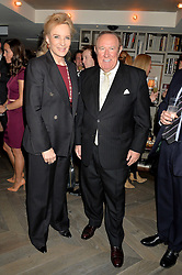 HRH PRINCESS MICHAEL OF KENT and ANDREW NEIL at the 3rd birthday party for Spectator Life magazine hosted by Andrew Neil and Olivia Cole held at the Belgraves Hotel, 20 Chesham Place, London on 31st March 2015.