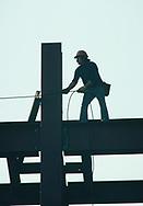 Washington, DC 1973/12/01  Office contstruction worker in 1973.<br />Photo by Dennis Brack