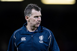 Referee Nigel Owens during the pre match warm up<br /> <br /> Photographer Simon King/Replay Images<br /> <br /> Friendly - Wales v Barbarians - Saturday 30th November 2019 - Principality Stadium - Cardiff<br /> <br /> World Copyright © Replay Images . All rights reserved. info@replayimages.co.uk - http://replayimages.co.uk