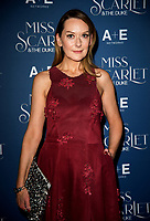 Cathy Belton at the  Miss Scarlet and the Duke World Premiere TV screening at the St. Pancras Renaissance Hotel. London. 03.12.19
