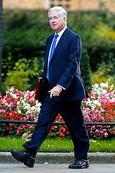 © Licensed to London News Pictures. 11/10/2016. London, UK. Defence Secretary MICHAEL FALLON attends a cabinet meeting in Downing Street on Tuesday, 11 October 2016. Photo credit: Tolga Akmen/LNP