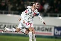 Fotball<br /> Frankrike<br /> Foto: DPPI/Digitalsport<br /> NORWAY ONLY<br /> <br /> FOOTBALL - FRENCH CUP 2007/2008 - 1/8 FINAL - SC AMIENS v ARLES - 19/03/2008 - JOY FABRICE FIORESE AND CARL TOURENNE AT THE END OF MATCH