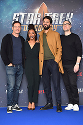 (left to right) Jason Isaacs, Sonequa Martin-Green, Shazad Latif and Aaron Harberts attending a Star Trek: Discovery fan screening at Millbank Tower in London.