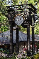 Clocktower at Singapore Botanic Garden - The Singapore Botanic Gardens is a major visitor attraction boasting an array of botanical & horticultural offerings with a rich plant collection of worldwide significance. Enhancing these resources are recreational facilities, educational displays and events for visitors surrounded by nature. The garden was first set up by Stamford Raffles, who was the founder of Singapore as well as being a naturalist at Fort Canning.  The original venue closed in 1829 and moved to the present site in 1859. In 2015 the Gardens received inscription as UNESCO World Heritage Site.