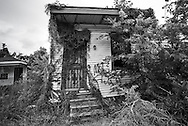 May 25, 2015, New Orleans, LA, Blighted home  in the lower 9th Ward almost ten years after Hurricane Katrina flooded the area.