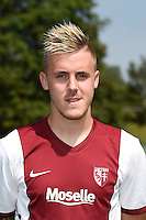 Thibaut VION - 01.08.2014 - Photo Officielle de Metz -<br /> Photo : Fred Marvaux / Icon Sport