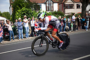 London, UK. Wednesday 1st August 2012. The Men's Individual Time Trial cycling event passes through Twickenham on route to find the fastest male cyclist. Fumiyuki Beppu of Japan.
