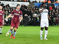 Football - 2018 / 2019 Championship - Swansea City vs Aston Villa<br /> … at the Liberty Stadium.<br /> Wilfried Bony of Swansea City looks sad after missing a penalty <br /> <br /> Credit: COLORSPORT/Winston Bynorth