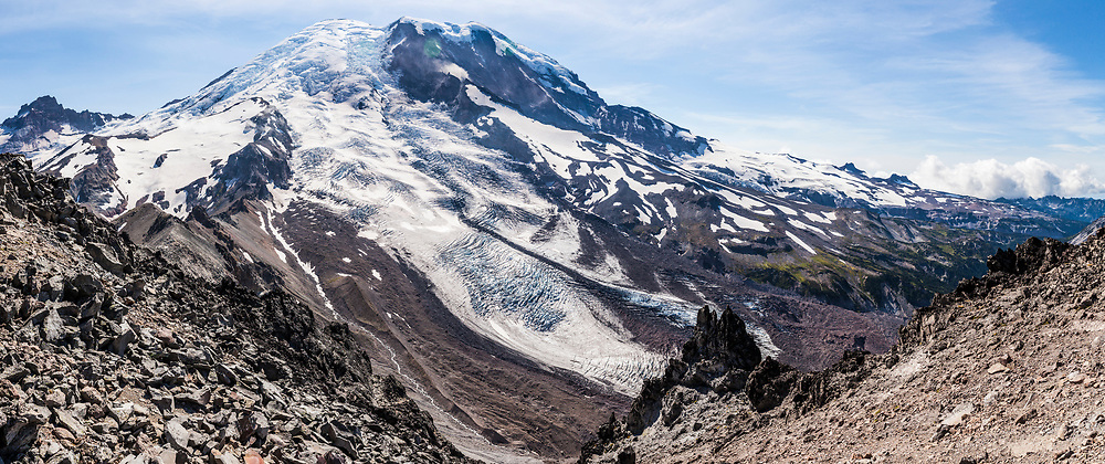 A view from 3rd Burroughs Mountain, Mount Rainier National Park, Washington, USA.