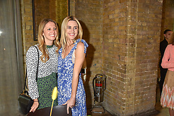 Davina Collas and Courtney Wartman, Director of Marketing at Free People at a cocktail and dinner hosted by fashion label Free People at Free People 38-39 Duke of York Square, Chelsea, London England. 21 May 2019.