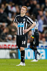 Jack Colback of Newcastle United, a former Sunderland player, looks dejected after Sunderland win 0-1 with a late goal - Photo mandatory by-line: Rogan Thomson/JMP - 07966 386802 - 21/12/2014 - SPORT - FOOTBALL - Newcastle upon Tyne, England - St James' Park - Newcastle United v Sunderland - Tyne-Wear derby - Barclays Premier League.