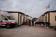 Balo Cizmic, Italian Roma Diplomat, living in a container camp called Castel Romano, near Rome, Italy.