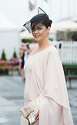 30/07/2015 Repro free  Mandy Maher Judge  at  the Kilkenny Ladies Day at the Galway races . photo:Andrew Downes