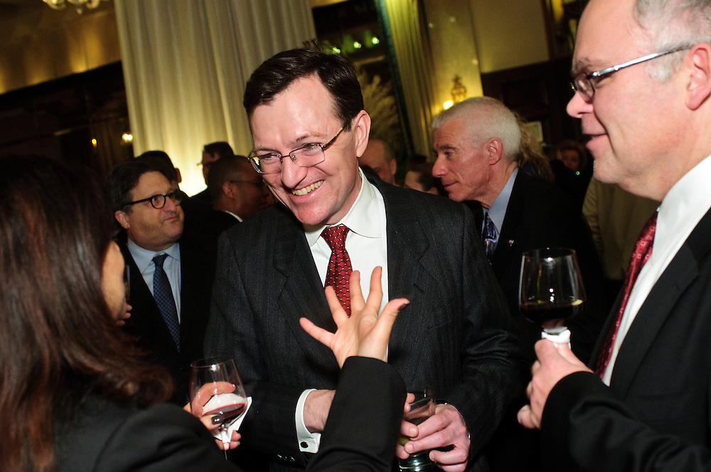 Cook County Circuit Court Associate Judge Thomas More Donnelly (center) chats with Cook County Assistant States Attorney Geraldine A. D'souza (left) and Whitfield McGann & Ketterman Attorney Robert T. Oleszkiewicz (right) during the 82nd Annual Installation and Awards Dinner of The Advocates Society, the association of Polish-American lawyers at the Drake Hotel on Wednesday, February 6th. © 2013 Brian J. Morowczynski ViaPhotos