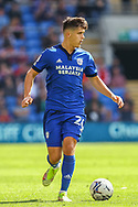 Cardiff City midfielder Ryan Giles (26) in action during the EFL Sky Bet Championship match between Cardiff City and Bristol City at the Cardiff City Stadium, Cardiff, Wales on 28 August 2021.