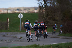 Tayler Wiles (USA) weaves through the countryside around Dour at Le Samyn des Dames 2019, a 101 km road race from Quaregnon to Dour, Belgium on March 5, 2019. Photo by Sean Robinson/velofocus.com