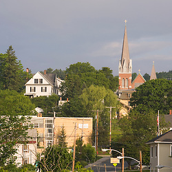Early morning in St Johnsbury Vermont USA