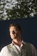 British explorer and writer Benedict Allen, pictured at the Edinburgh International Book Festival where he talked about his work. The Book Festival was the World's largest literary event and featured writers from around the world. The 2007 event featured around 550 writers and ran from 11-27 August.