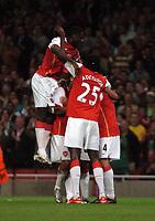 Photo: Tony Oudot.<br /> Arsenal v Sparta Prague. UEFA Champions League Qualifying. 29/08/2007.<br /> Arsenal celebrate Cesc Fabregas goal