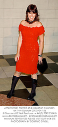 JANET STREET-PORTER at a reception in London on 14th October 2002.PEA 156