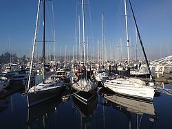Sailboats at Port of Sidney Marina, Sidney, British Columbia, Canada