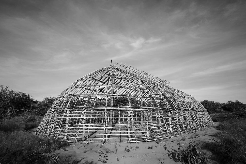 Oca estrutural. Aldeia Ipatse, etnia Kuikuro, Alto Xingu.