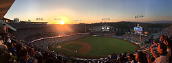 June 24, 2017 - Los Angeles, California, U.S. - Sunset during a Major League baseball game between the Colorado Rockies and Los Angeles Dodgers at Dodger Stadium on Saturday, June 24, 2017 in Los Angeles. Los Angeles. (Photo by Keith Birmingham, Pasadena Star-News/SCNG) (Credit Image: © San Gabriel Valley Tribune via ZUMA Wire)