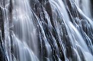 Closeup of Narada Falls during late Summer in Mount Rainier National Park, Washington State, USA