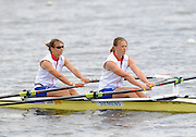 Reading, GREAT BRITIAN, left [Bow] Elise LAVERICK and Anna BEBINGTON, British Olympic Association, BOA, 2008 Beijing Olympic Rowing Team Announcement for 2008 Beijing Olympic Games, CHINA. .Redgrave and  Pinsent Rowing Lake, Caversham Training Centre, on Thursday, 26/06/2008. [Mandatory Credit:  Peter SPURRIER / Intersport Images] Rowing course: GB Rowing Training Complex, Redgrave Pinsent Lake, Caversham, Reading