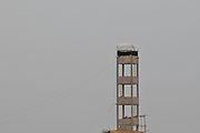 Palestinian (Hamas) Observation post. Photographed on the Palestinian Israeli border on May 4th 2018