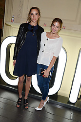 Left to right, PHOEBE COLLINGS-JAMES and CHELSEA LEYLAND at the Carrera Ignition Night at The House of St.Barnabas, Soho, London on 20th June 2013.