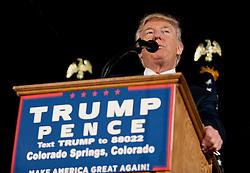 Oct.18, 2016 - Colorado Springs, Colorado, U.S. -  DONALD TRUMP campaigns at the Norris Penrose Event Center.(Credit Image: © Brian Cahn via ZUMA Wire)
