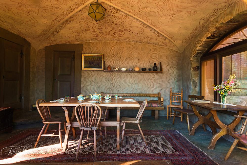 Dining room at Vikingsholm castle, Emerald Bay State Park, Lake Tahoe, California USA