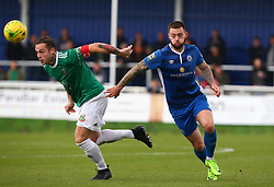 October 7, 2017 - Billericay, England, United Kingdom - L-R Arthur Lee of Hendon FC  and Louie Theophanous  of Billericay Town.during Bostik League Premier Division match between Billericay Town against Hendon FC at New Lodge Ground, Billericay on 07 Oct 2017  (Credit Image: © Kieran Galvin/NurPhoto via ZUMA Press)