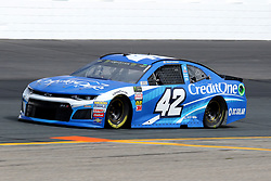 July 21, 2018 - Loudon, NH, U.S. - LOUDON, NH - JULY 21: Kyle Larson, driver of the #42 Credit One Bank Chevy during practice for the Monster Energy Cup Series Foxwoods Resort Casino 301 race on July, 21, 2018, at New Hampshire Motor Speedway in Loudon, NH. (Photo by Malcolm Hope/Icon Sportswire) (Credit Image: © Malcolm Hope/Icon SMI via ZUMA Press)