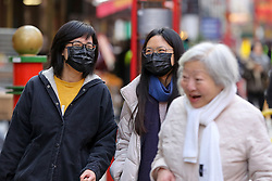 © Licensed to London News Pictures. 05/02/2020. London, UK.  Asian women in Chinatown wearing a fashionable face masks following the outbreak of Coronavirus in Wuhan, China. At least 427 people have died from the virus and there have been over 20,000 confirmed cases, most of them in China. Photo credit: Dinendra Haria/LNP