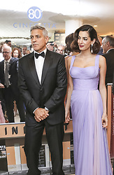 September 2, 2017 - Venice, California, Italy - GEORGE CLOONEY and AMAL CLOONEY at the Venice Film Festival prior to premiere of 'Suburbicon.' (Credit Image: © Armando Gallo via ZUMA Studio)