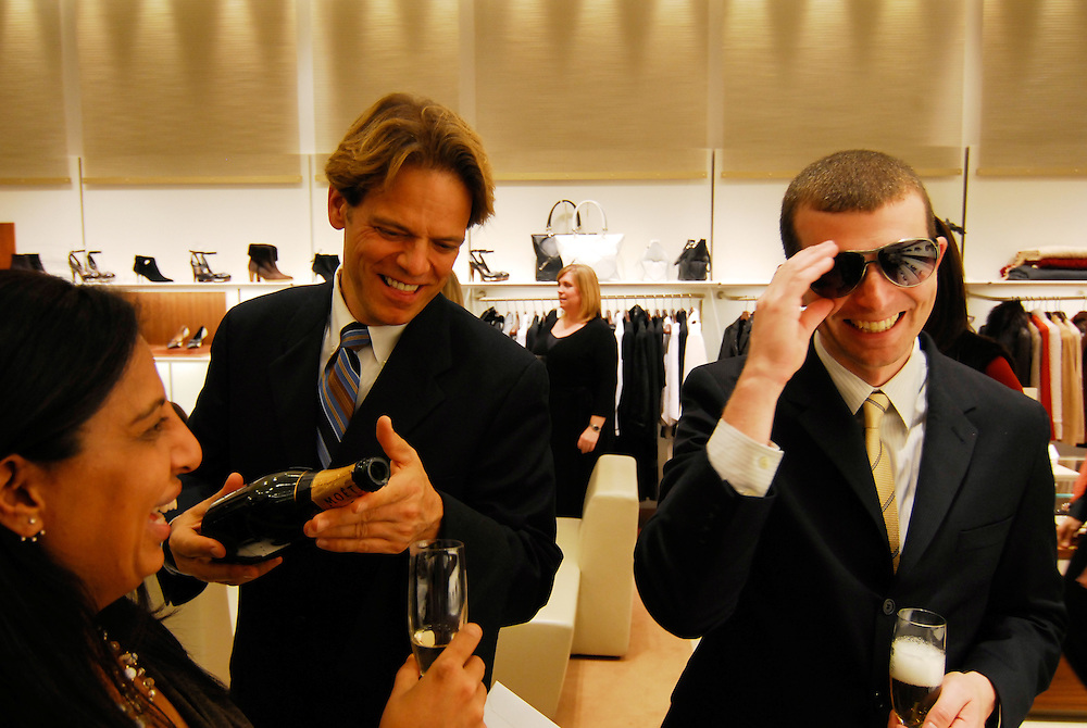 ICA employees and volunteers party at the Salvatore Ferragamo store in Copley Place Mall.